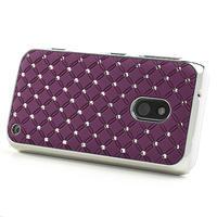 Drahokamové pouzdro na Nokia Lumia 620- fialové - 3/4