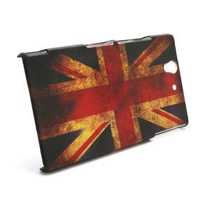 Plastové pouzdro na Sony Xperia Z L36i C6603- UK vlajka - 3