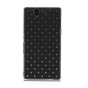 Drahokamové pouzdro na Sony Xperia Z L36i C6603- černé - 3