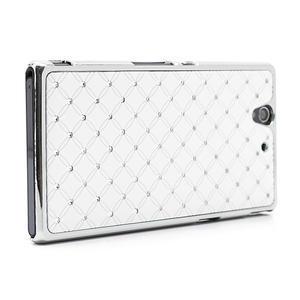 Drahokamové pouzdro na Sony Xperia Z L36i C6603- bílé - 3