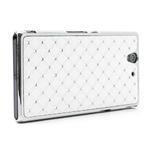 Drahokamové pouzdro na Sony Xperia Z L36i C6603- bílé - 3/7