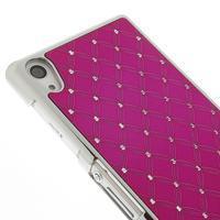 Drahokamové pouzdro na Sony Xperia Z2 D6503- růžové - 3/5