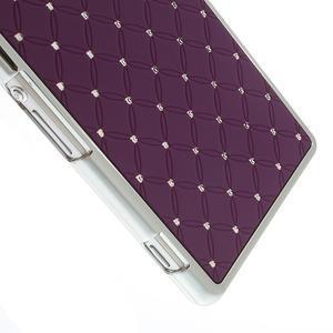 Drahokamové pouzdro na Sony Xperia Z2 D6503- fialové - 3