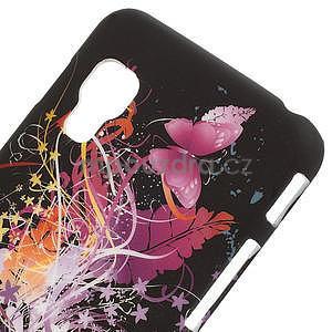 Plastové pouzdro pro LG Optimus L5 Dual E455- Motýl a květ - 3