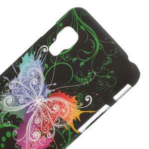 Plastové pouzdro pro LG Optimus L5 Dual E455- vlající motýl - 3