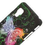 Plastové pouzdro pro LG Optimus L5 Dual E455- vlající motýl - 3/3