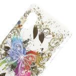 Plastové pouzdro pro LG Optimus L5 Dual E455- motýl bílé pozadí - 3/3