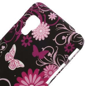 Plastové pouzdro pro LG Optimus L5 Dual E455- motýlový květ - 3