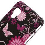 Plastové pouzdro pro LG Optimus L5 Dual E455- motýlový květ - 3/3
