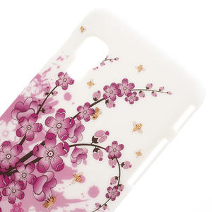 Plastové pouzdro pro LG Optimus L5 Dual E455- kvetoucí větvička - 3