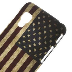 Plastové pouzdro pro LG Optimus L5 Dual E455- USA vlajka - 3