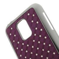 Drahokamové pouzdro na Samsung Galaxy S5 mini G-800- fialové - 3/3