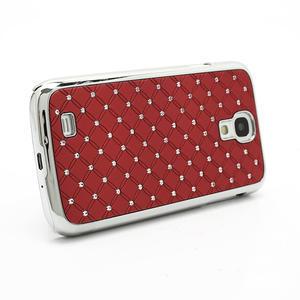 Drahokamové pouzdro pro Samsung Galaxy S4 i9500- červené - 3