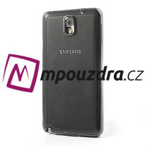 Gelové hybrid pouzdro na Samsung Galaxy Note 3- šedé - 3