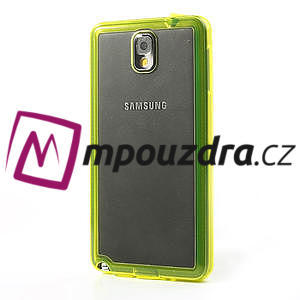 Gelové hybrid pouzdro na Samsung Galaxy Note 3- žluté - 3