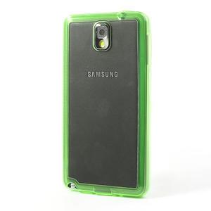 Gelové hybrid pouzdro na Samsung Galaxy Note 3- zelené - 3