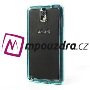 Gelové hybrid pouzdro na Samsung Galaxy Note 3- světlemodré - 3