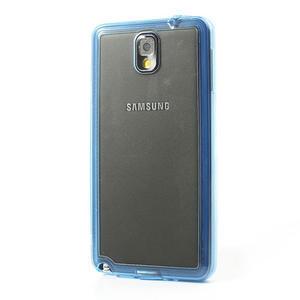 Gelové hybrid pouzdro na Samsung Galaxy Note 3- modré - 3