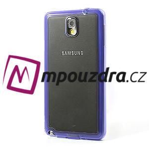 Gelové hybrid pouzdro na Samsung Galaxy Note 3- fialové - 3