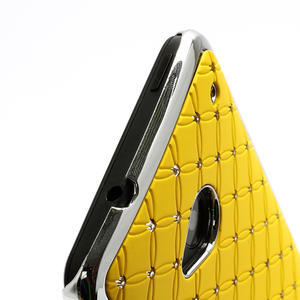 Drahokamové pouzdro pro HTC one M7- žluté - 3