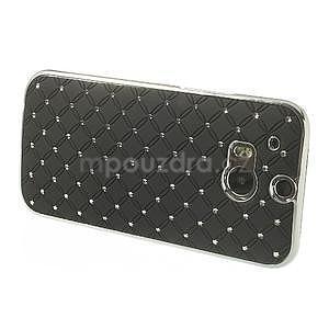 Drahokamové pouzdro pro HTC one M8- černé - 3