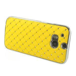 Drahokamové pouzdro pro HTC one M8- žluté - 3