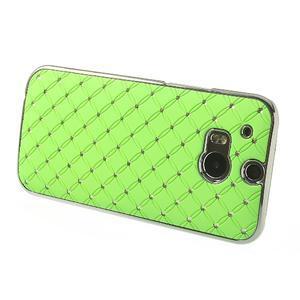 Drahokamové pouzdro pro HTC one M8- zelené - 3