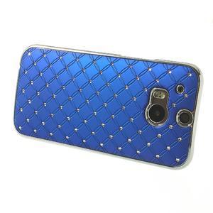 Drahokamové pouzdro pro HTC one M8- modré - 3