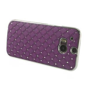 Drahokamové pouzdro pro HTC one M8- fialové - 3