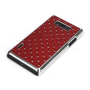 Drahokamové pouzdro pro LG Optimus L7 P700- červené - 3