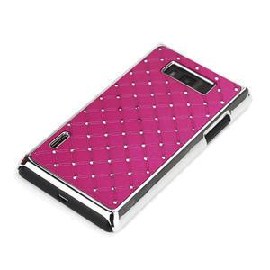 Drahokamové pouzdro pro LG Optimus L7 P700- růžové - 3