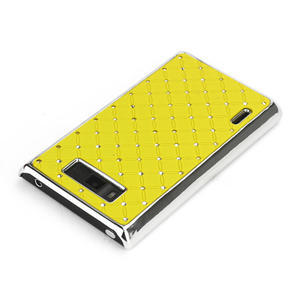 Drahokamové pouzdro pro LG Optimus L7 P700- žluté - 3
