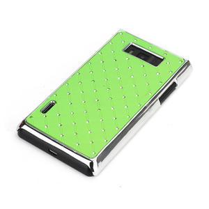 Drahokamové pouzdro pro LG Optimus L7 P700- zelené - 3