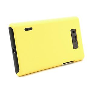 Texturované pouzdro pro LG Optimus L7 P700- žluté - 3