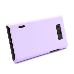 Texturované pouzdro pro LG Optimus L7 P700- fialové - 3