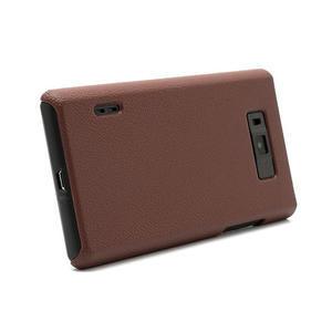 Texturované  pouzdro pro LG Optimus L7 P700- hnědé - 3