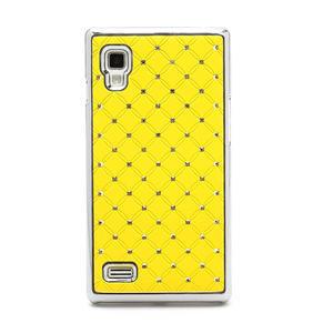 Drahokamové pouzdro pro LG Optimus L9 P760- žluté - 3