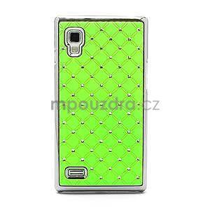 Drahokamové pouzdro pro LG Optimus L9 P760- zelené - 3