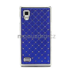 Drahokamové pouzdro pro LG Optimus L9 P760- modré - 3