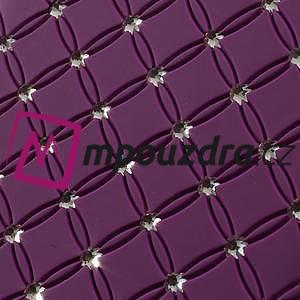 Drahokamové pouzdro pro Samsung Trend plus, S duos- fialové - 3