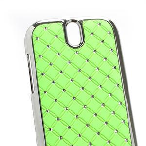 Drahokamové pouzdro pro HTC One SV- zelené - 3