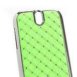 Drahokamové pouzdro pro HTC One SV- zelené - 3/5