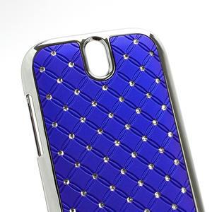 Drahokamové pouzdro pro HTC One SV- modré - 3