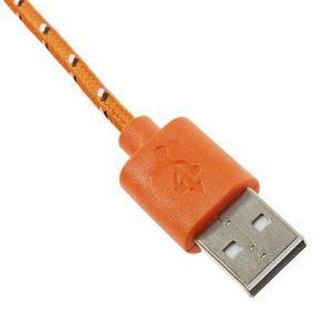 Tkaný odolný micro USB kabel s délkou 2m - oranžový - 3