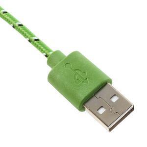 Tkaný odolný micro USB kabel s délkou 2m - zelený - 3