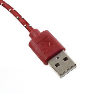 Tkaný odolný micro USB kabel s délkou 2m - červený - 3
