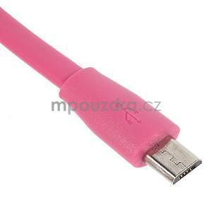 Propojovací micro USB kabel - délka 1 m, rose - 3