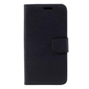 Cloth PU kožené pouzdro na mobil Microsoft Lumia 550 - černé - 3