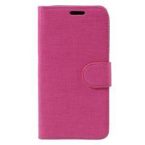 Cloth PU kožené pouzdro na mobil Microsoft Lumia 550 - rose - 3