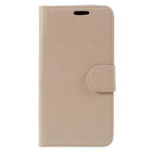 Cloth PU kožené pouzdro na mobil Microsoft Lumia 550 - champagne - 3